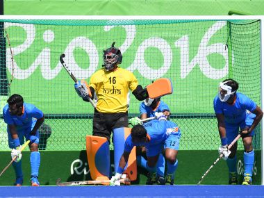 Indian hockey team had goalkeeper PR Sreejesh to thank for for their 2-1 win over Argentina at the Rio Olympics. AFP