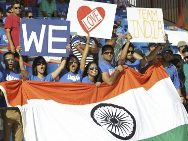 Cricket fans at the match between India and the West Indies in Lauderhill, Florida. AP