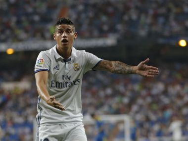 James Rodriguez has been a subject of transfer speculation after being restricted to a role from the bench. AP