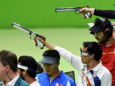 Jitu Rai in the qualifying round during the Rio Olympic 2016. PTI