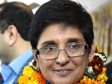 A file photo of Kiran Bedi. PTI