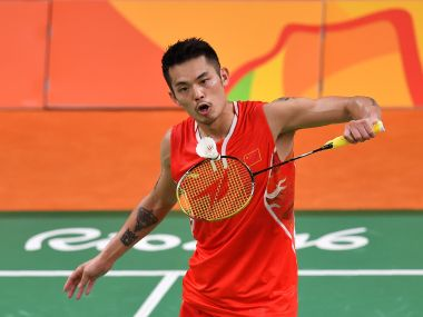 File photo of Lin Dan. AFP