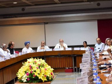 PM Narendra Modi chaired the all-party meet on Friday over unrest in Kashmir. PTI