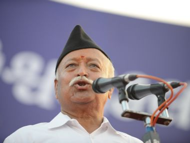 File image of Mohan Bhagwat. AFP