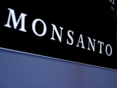 Monsanto is displayed on a screen where the stock is traded on the floor of the New York Stock Exchange (NYSE) in New York City, U.S. REUTERS