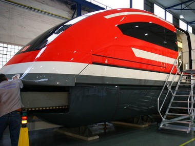 A prototype of the new maglev train in Germany. Reuters