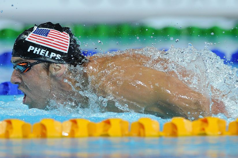 Michael Phelps of the US. Getty Images