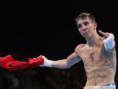 "Irish bantamweight world champion Michael Conlan launched a foul-mouthed tirade at the AIBA saying he had been ""robbed"" of his Olympic dream. Getty"
