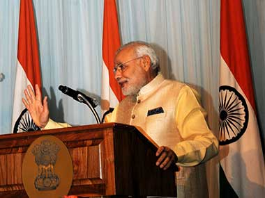 File photo of Narendra Modi during his trip to US in June. PIB