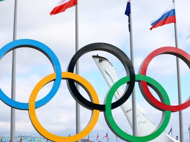 The Olympic Rings. Getty