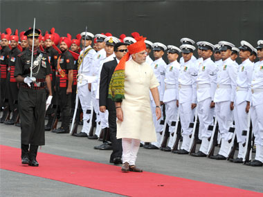PM Narendra Modi at Red Fort on the 70th Independence Day of India. PTI