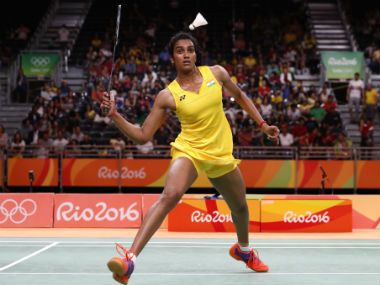 PV Sindhu won her quarter-final match against . AP