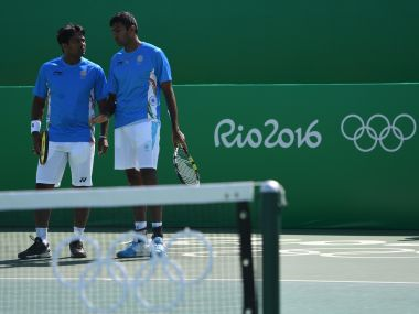 Leander Paes-Rohan Bopanna at the Rio Olympics. AFP