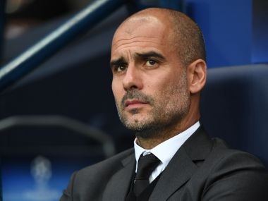 File picture of Pep Guardiola. AFP