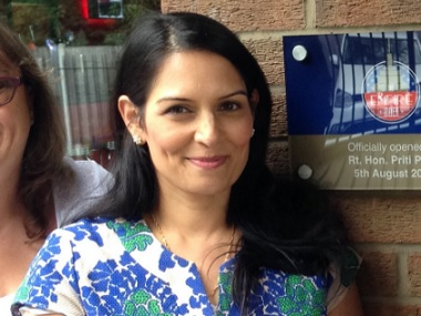 File image of Priti Patel. Twitter @patel4witham