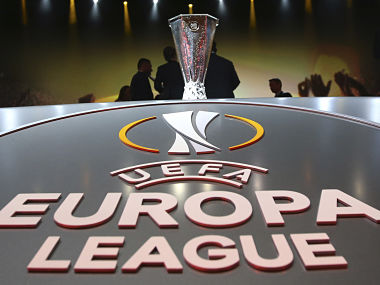 The Europa League cup (top) is seen before the draw for the 2016/2017 UEFA Europa League soccer competition at Monaco's Grimaldi Forum in Monaco, August 26, 2016. REUTERS/Eric Gaillard - RTX2N5J1