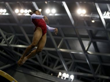 File photo of Dipa Karmakar. Reuters