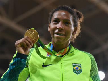 Rafaela Silva won the gold medal in judo to answer her critics from 2012. Getty Images
