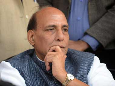 File photo of Union minister Rajnath Singh. AFP