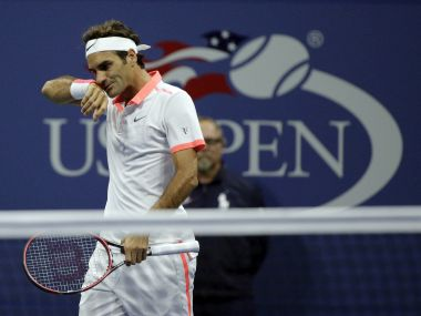 Roger Federer at last year's US Open. AP