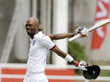 Roston Chase became the first West Indian since Garry Sobers to hit a century and take five wickets in a Test. AP