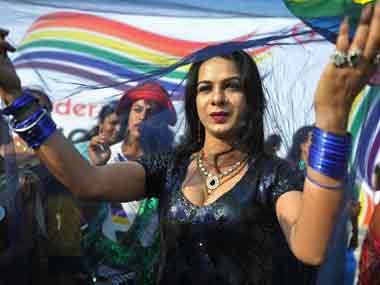 A file photo of a transgender activist. AFP