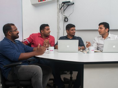 Vibe Team (l-r) Nithin Sam Oomen, Anoop Thomas Mathew, Jofin Joseph and Arjun Pillai