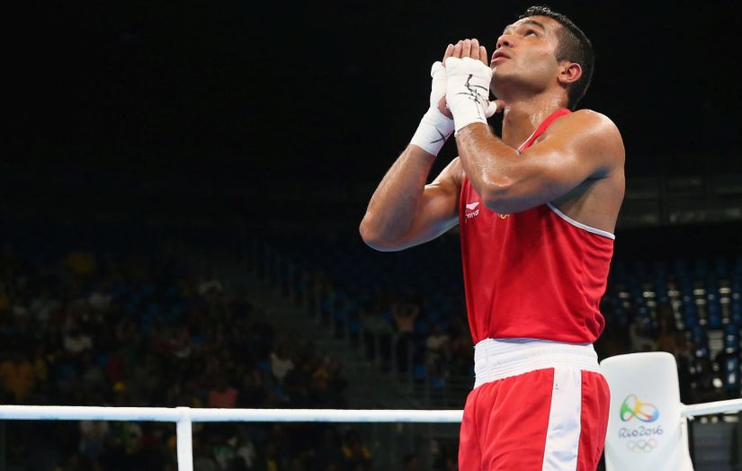 Vikas Krishan is one win away from medal at the Olympics. Getty Images