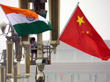 Representational image of India and China flags. AFP
