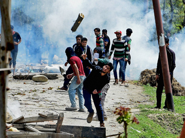 Representational image of violence that has erupted in Kashmir since July. PTI