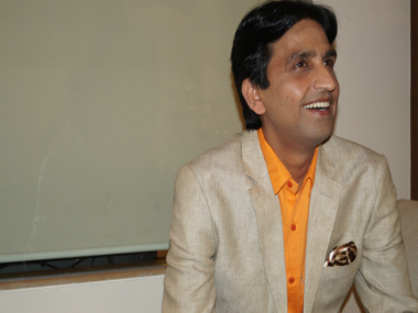 File photo of Kumar Vishwas. Photo by Kumar Vishawa's office