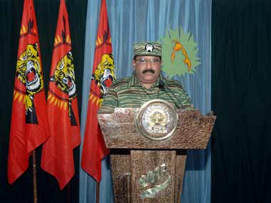 File image of LTTE leader Prabhakaran. Reuters