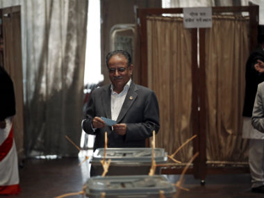 File image of Prachanda. Reuters