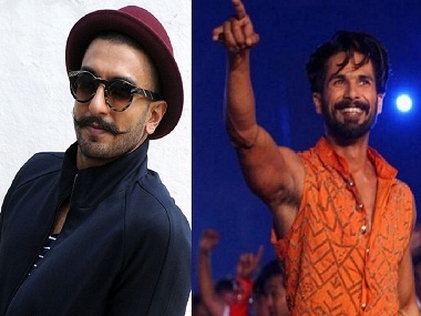 Ranveer Singh (L); Shahid Kapoor. Images from AFP; News18