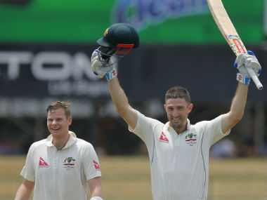 Steve Smith (left) and Shaun Marsh scored 119 and 130 respectively during Australia's innings. AP