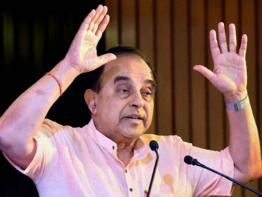 File image of Subramanian Swamy. PTI
