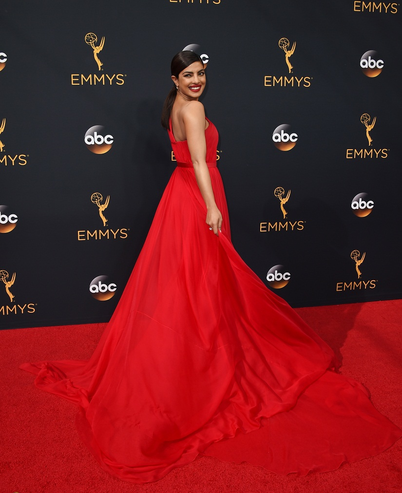 Priyanka Chopra arrives at the 68th Primetime Emmy Awards on Sunday, Sept. 18, 2016, at the Microsoft Theater in Los Angeles. (Photo by Jordan Strauss/Invision/AP)