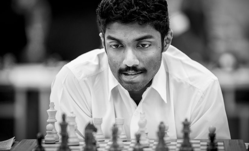 Grandmaster Baskaran Adhiban, who drew former World Champion Ruslan Ponomariov on Sunday. Image Courtesy - David Llada)