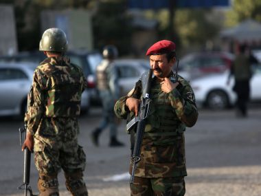 Afghan soldiers inspects the site of suicide attack In Kabul. Image used for representational purpose. AP