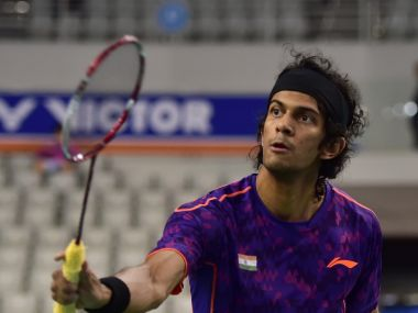Ajay Jayaram in action at the Korea Open. AFP