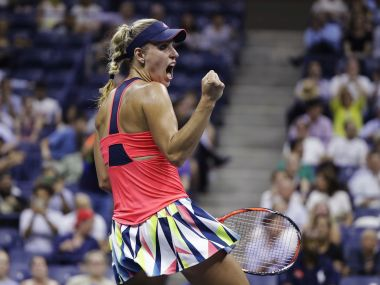 Angelique Kerber after defeating Caroline Wozniacki. AP