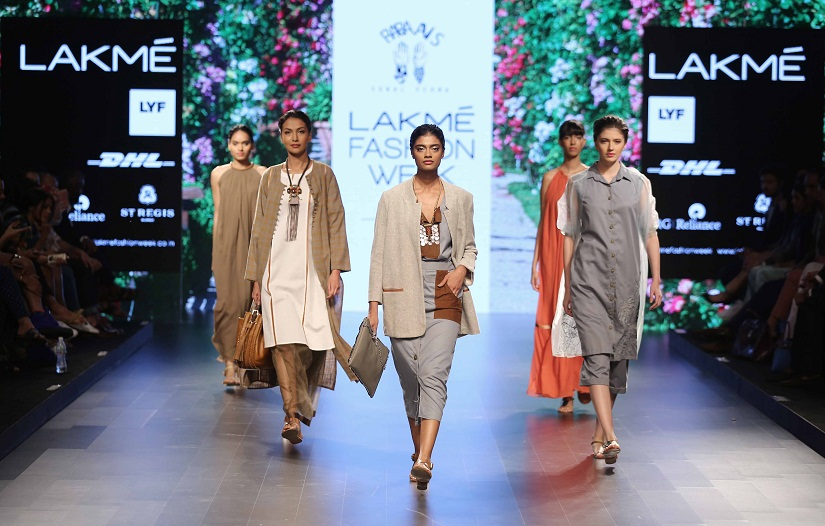 The Indian ramps do have a few very well-known faces, such as that of Archana Akhil Kumar (centre)