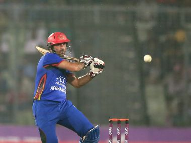 Afghanistan skipper Asghar Stanikzai top-scored with 57 runs. AFP