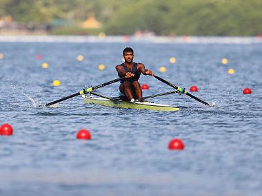 Dattu Bhokanal at the Rio Olympics 2016. Getty