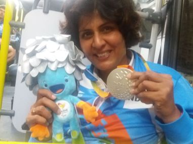 Deepa Malik with her silver medal at the Rio Paralympics 2016. Facebook/Deepa Malik