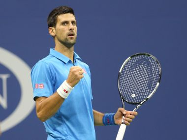 Novak Djokovic during the US Open 2016. Reuters