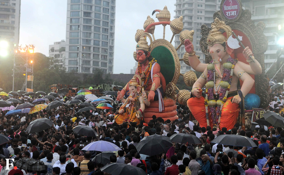 The 11-day Ganesh Chaturthi festivities culminated in a grand colourful immersion procession on Thursday and was marked by pomp and gaiety in the city. Sachin Gokhale/Firstpost