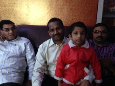 Gopi Krishna with his family.