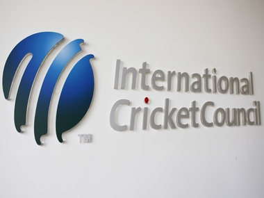 The International Cricket Council (ICC) logo.