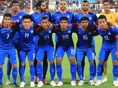 The Indian football team. Twitter@/IndianFootball